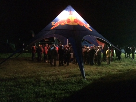 The Red Bull Tent At Prize Giving